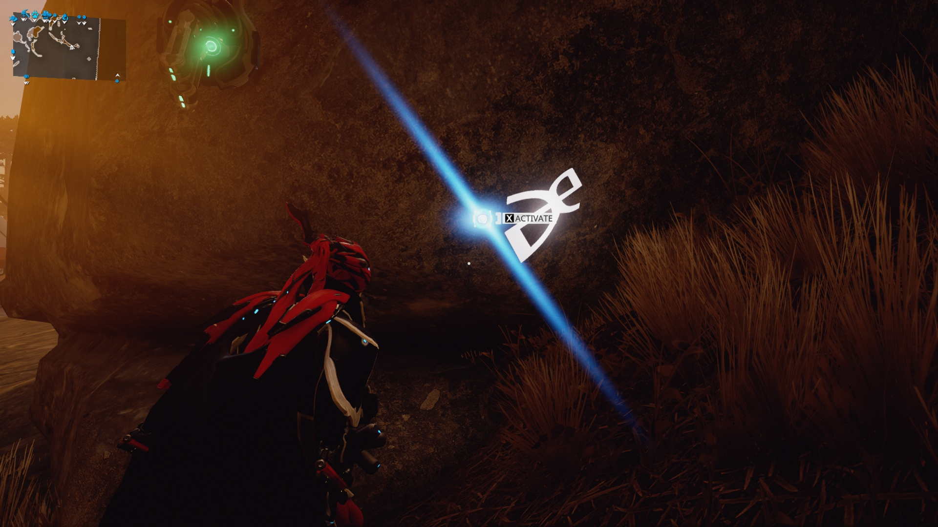 DE's logo on a rock in Cetus