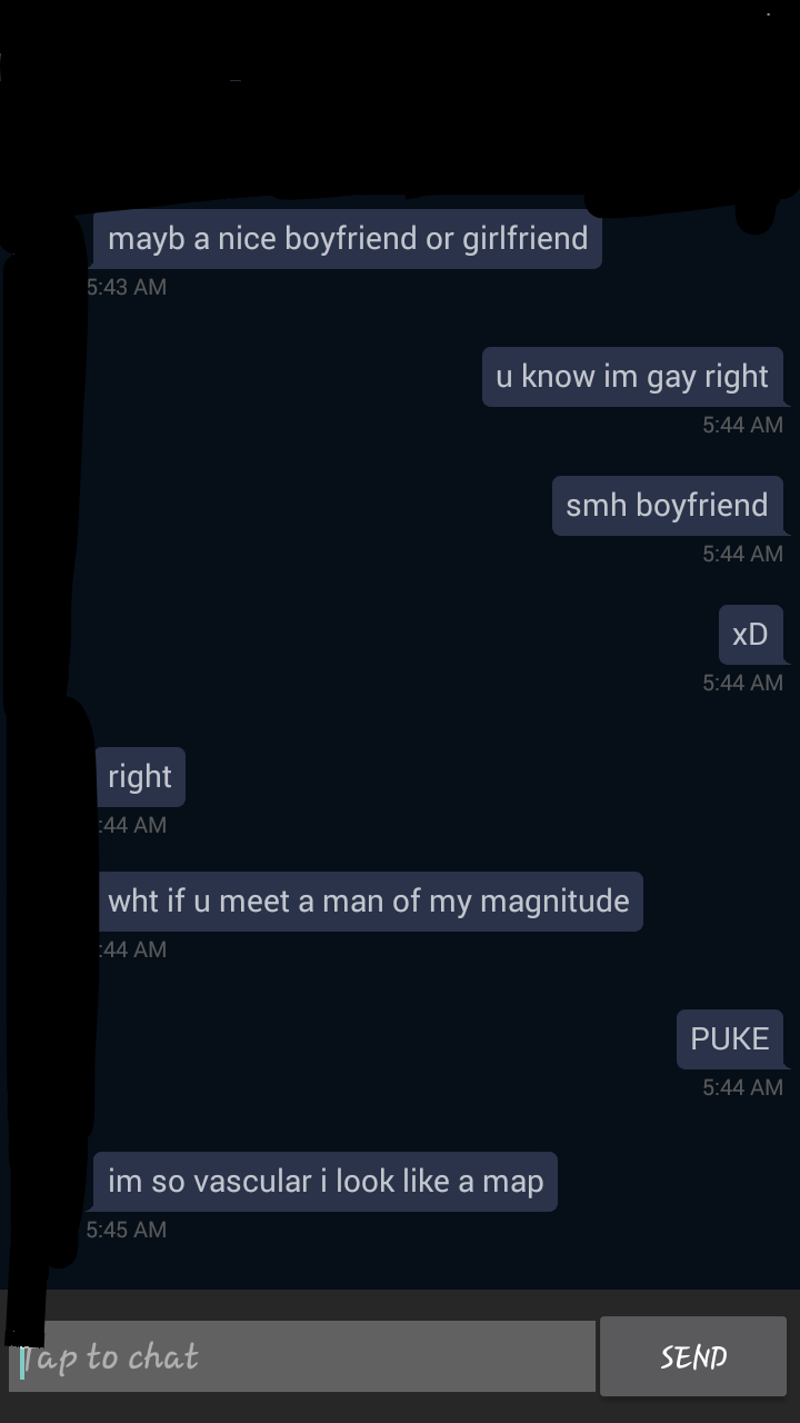 Friend's acquaintance gets a lil' cocky.
