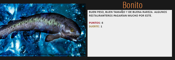 [Los juegos del pez] Botín de Noa Nightrose. Bonito