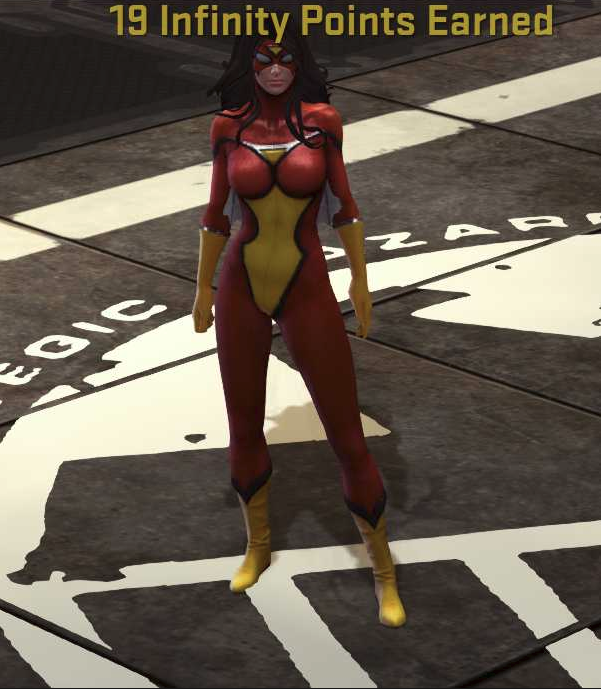 SpiderWoman in Game
