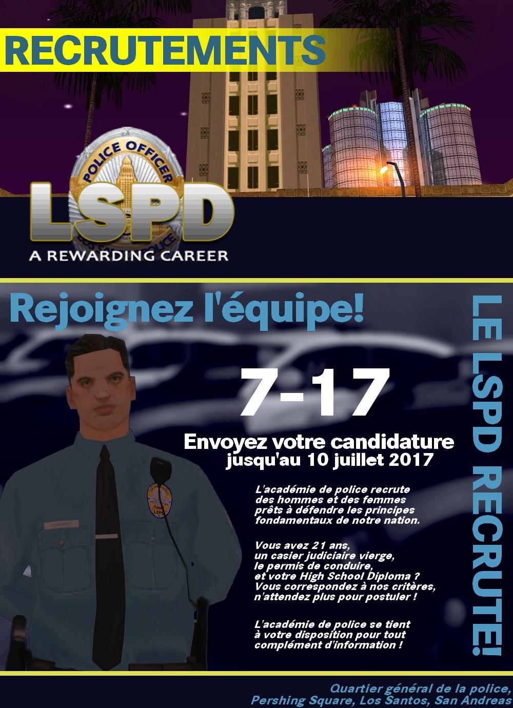 #LSPDHQ Ouverture de la session 7-17 7-17
