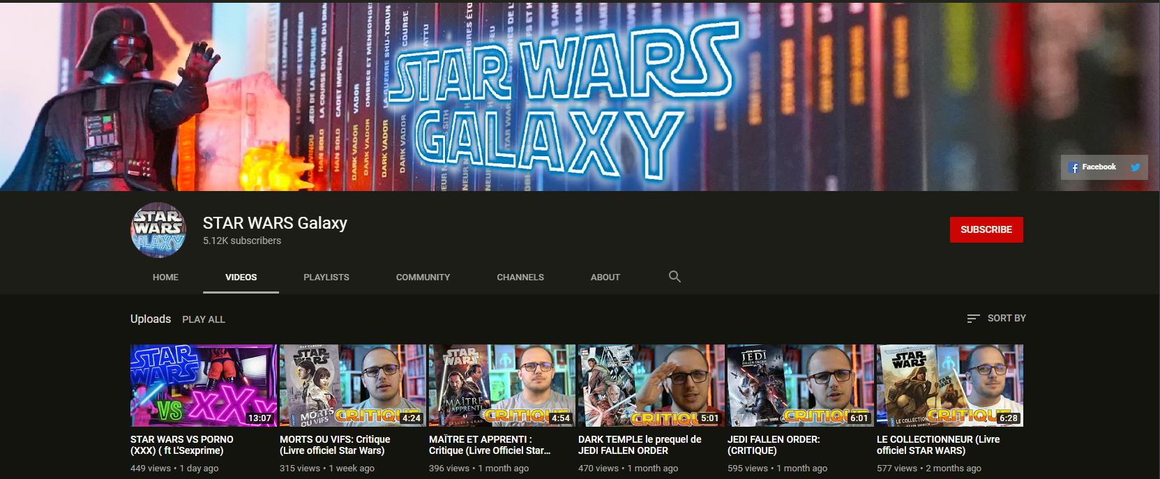 ★★★ Le Vidéaste à l'Honneur #45 | Star Wars Galaxy | Venez critiquer cette chaîne ! Unknown