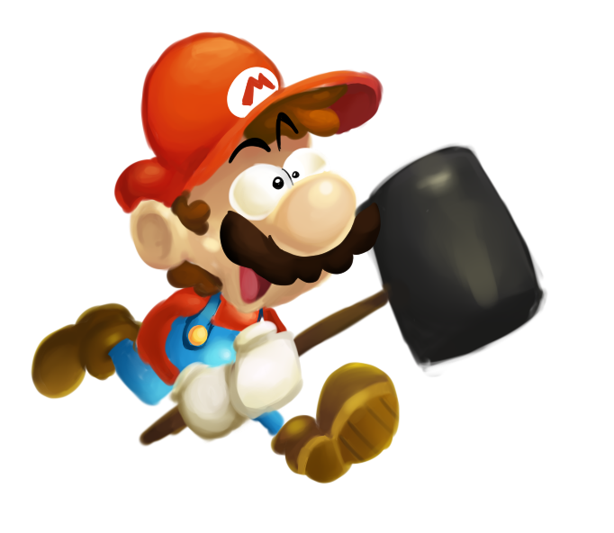 Mario in Rayman/Ubiart style. I hope the Rabbids crossover looks like this.