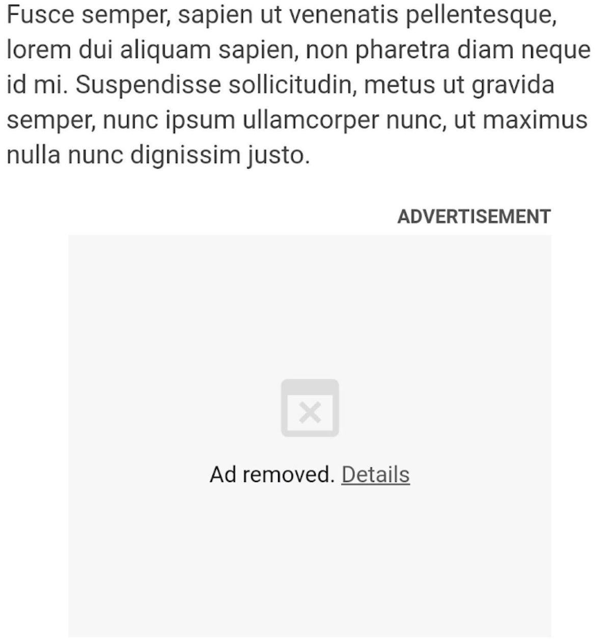 An example of a blocked resource-draining ad in Chrome.