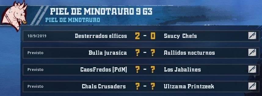 Campeonato Piel de Minotauro 9 - Grupo 3 / Jornada 2 - hasta el domingo 20 de octubre 20191009113124_1
