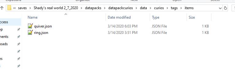 item tag names