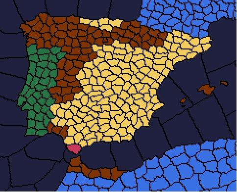 Guerre civile espagnole [Victoire Républicaine] Tour_4_Espagne_resultats