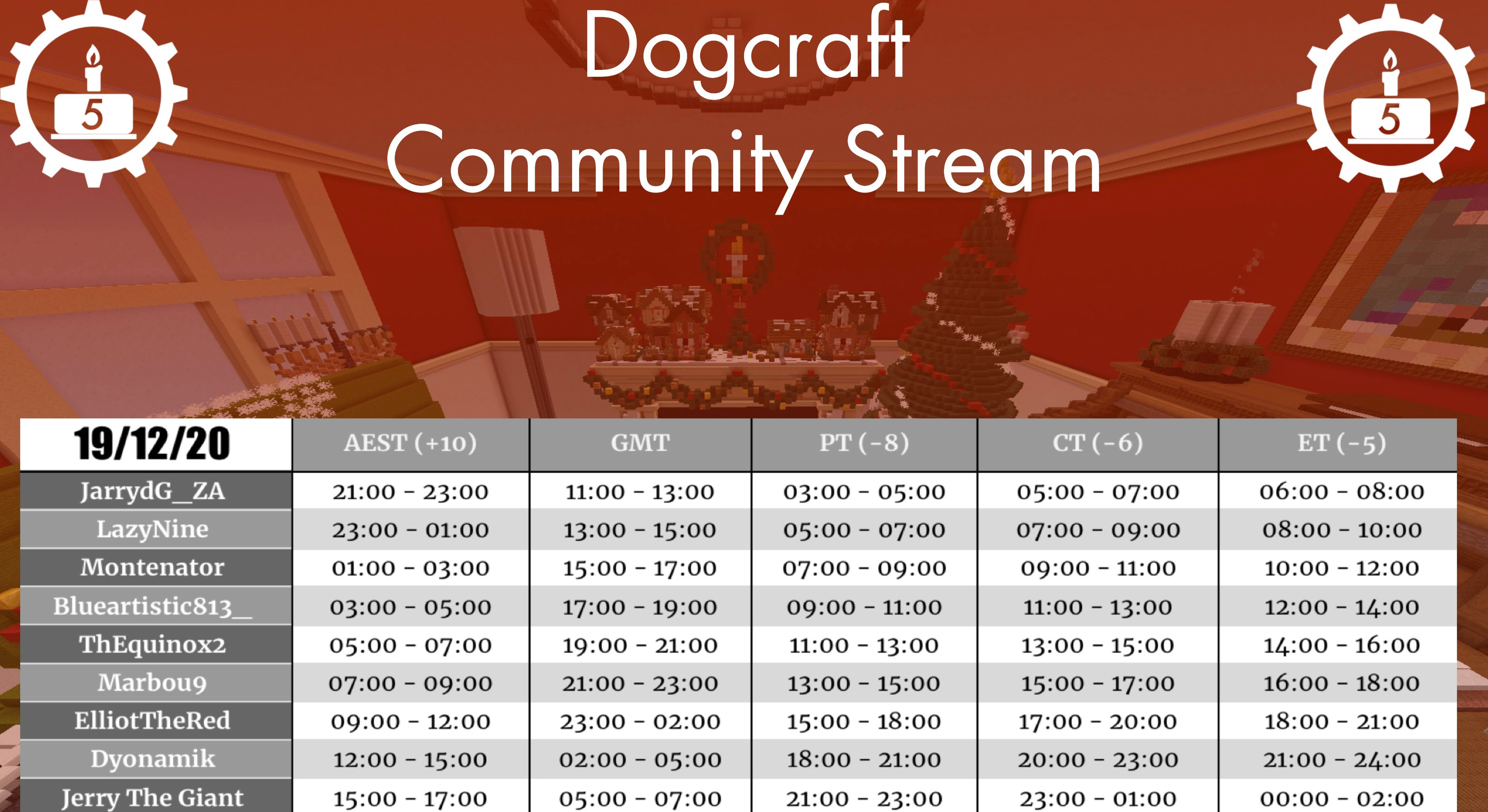<p>@here </p> <p>:rotating_light::rotating_light: <strong>ATTENTION CYBERDOGS</strong> :rotating_light::rotating_light:</p> <p><strong><strong>STREAM Day INCOMING</strong></strong></p> <p>Commencing at 11AM GMT and running till 7AM the next day. </p> <p>Yes. That's 21hrs of non-stop <em>maniacal</em> entertainment, coming fresh to your eyeballs :eye: :eye: </p> <p><em>But what's the lineup you asked?</em></p> <p>I'm glad you asked. Here it is, in GMT times:</p> <p>11am - 1pm: <code>JarrydG_ZA</code> 1pm - 3pm: <code>LazyNine</code> 3pm - 5pm: <code>Montenator</code> 5pm - 7pm: <code>blueartistic813_</code> 7pm - 9pm: <code>TheEquinox2</code> 9pm - 11pm: <code>Marbou9</code> 11pm - 2am: <code>ElliotTheRed</code> 2am - 5am: <code>Dyonamik</code> 5am - 7am: <code>JerryTheGiant</code></p> <p><<a target='_blank' target='_blank' target='_blank' target='_blank' target='_blank' target='_blank' target='_blank' target='_blank' target='_blank' target='_blank' target='_blank' target='_blank' target='_blank' target='_blank' target='_blank' target='_blank' target='_blank' target='_blank' href=