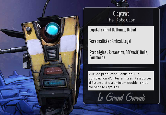 IA BATTLE ROYALE CIVILISATION V !!! Claptrap