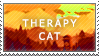 Seconds of purity, Minutes of rarity and Hours of fantasy Therapy_Cat_stamp