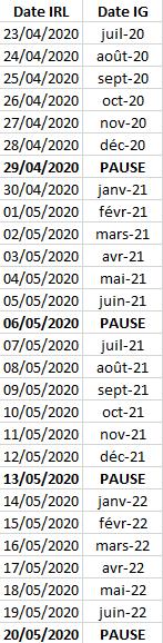 ¤ V2020 ¤ Calendrier Calendrier