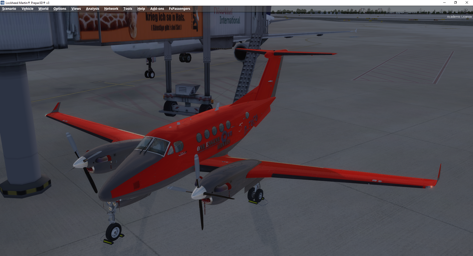 Flight1 KingAir B200 OEO Livery