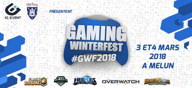 Annonce de la Gaming WinterFest 2018