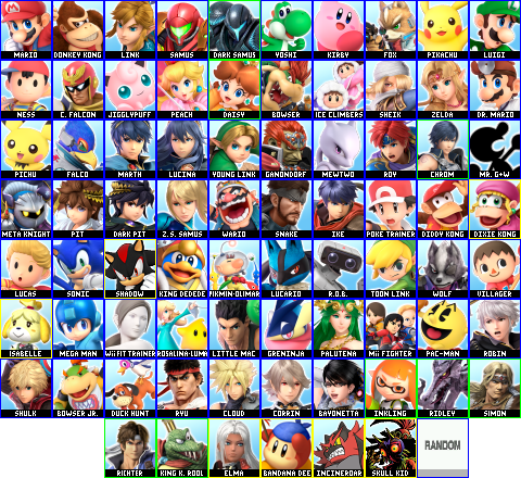 Who I think the remaining Smash Bros Ultimate newcomers are Ultimate_Roster_2.5