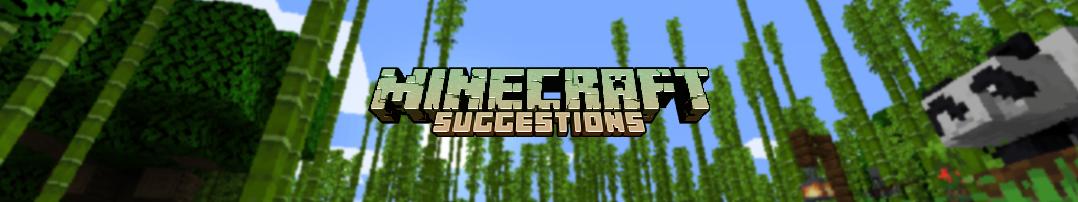 MinecraftSuggestions Header