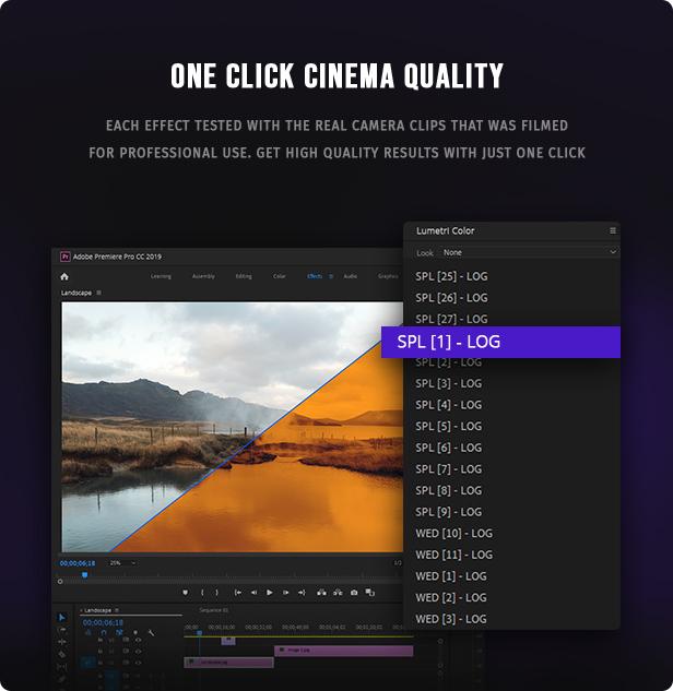 700 Film Looks - LUT Color Preset Pack - 3