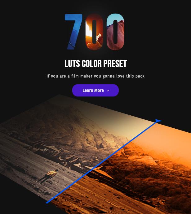 700 Film Looks - LUT Color Preset Pack - 2