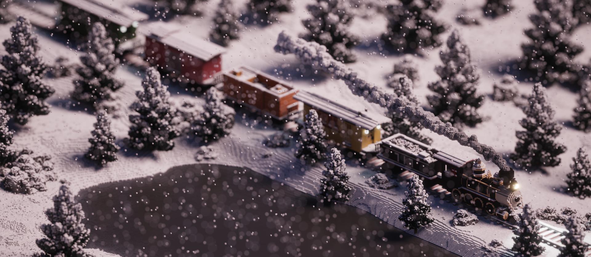 [AUTRES LOGICIELS] MagicaVoxel! - Page 3 Snowy_Train