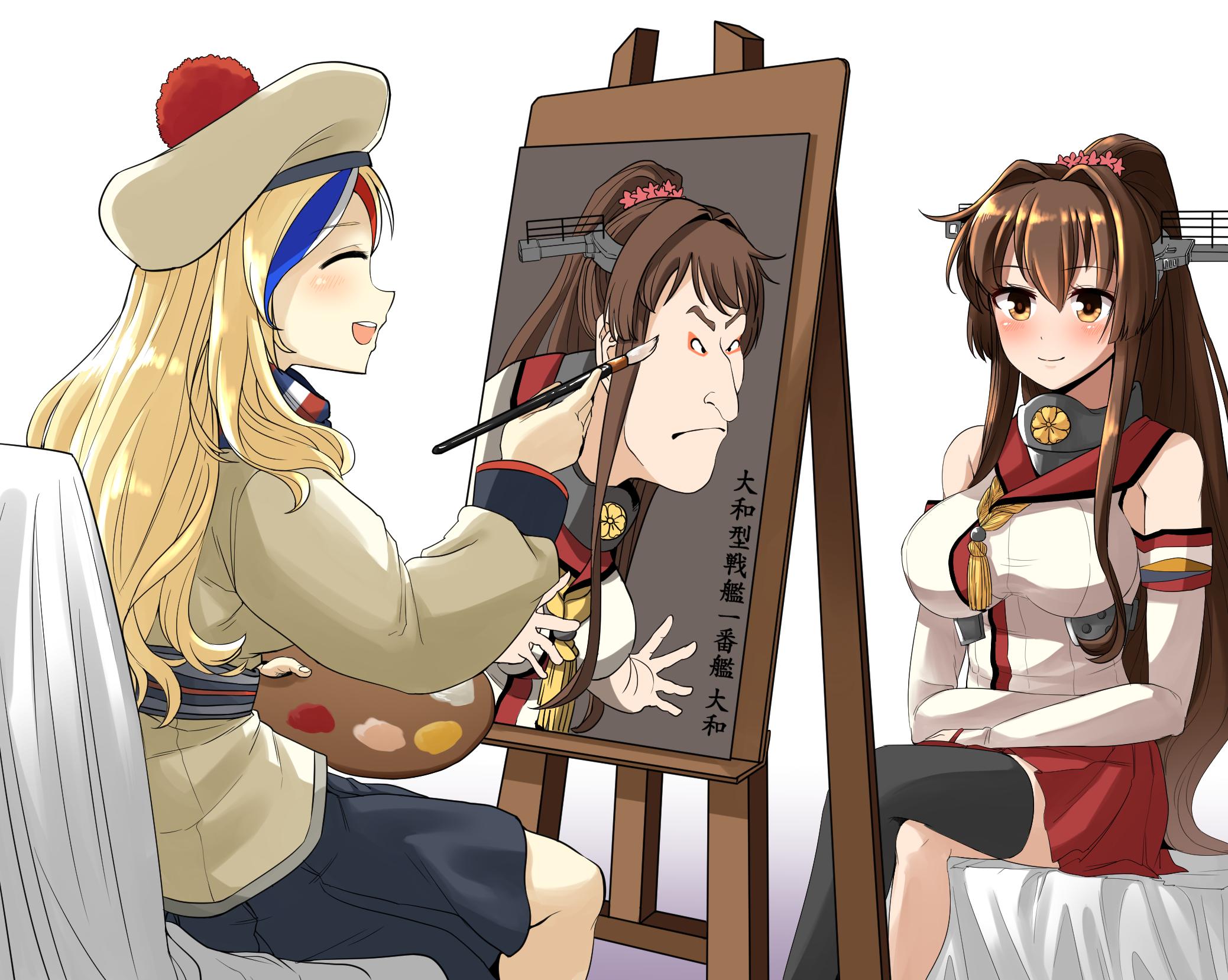 commandant_teste_and_yamato_kantai_collection_drawn_by_yong_gok__aae7cfb35b1cb72d54a6ad6d76881a3f.png