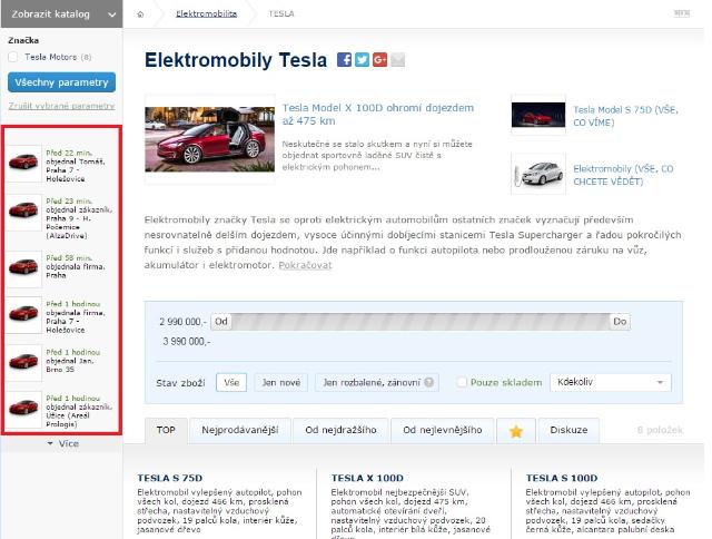 Alza spustila predaj elektromobilov Tesla, s nabíjaním zdarma ale draho