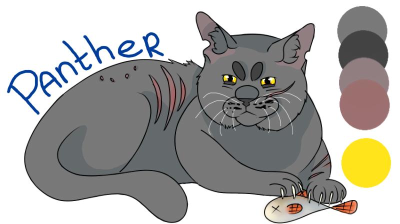 Bekijk een karakter blad Panthergrowl