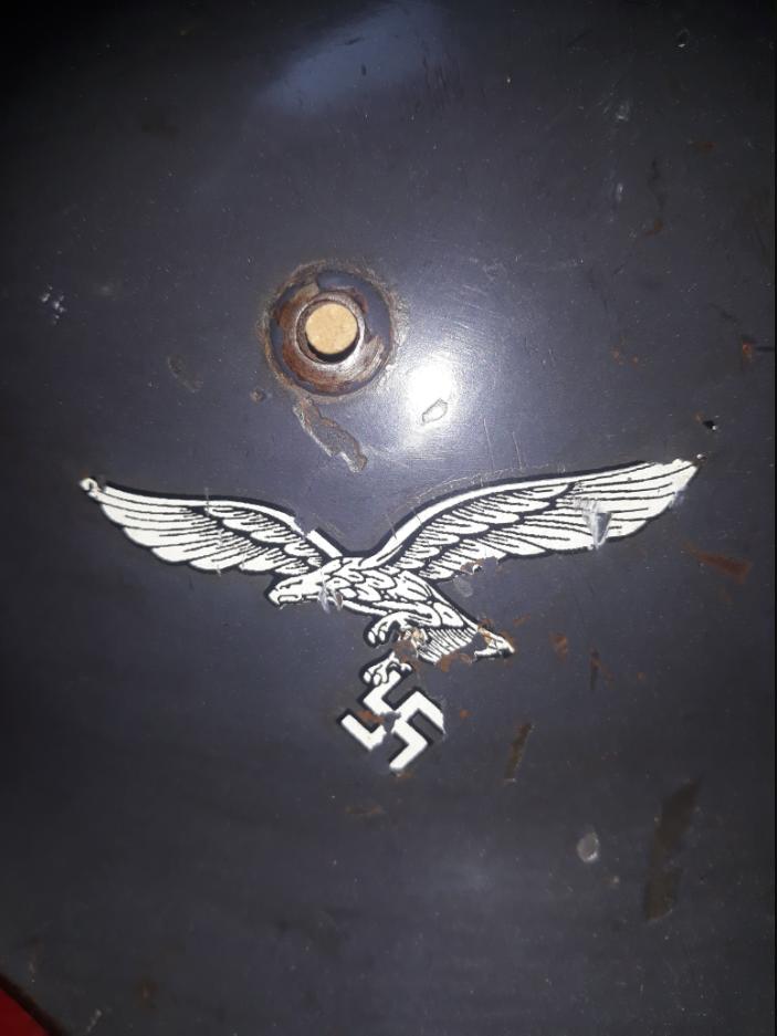 Authentification d'un aigle de casque Luft. Unknown