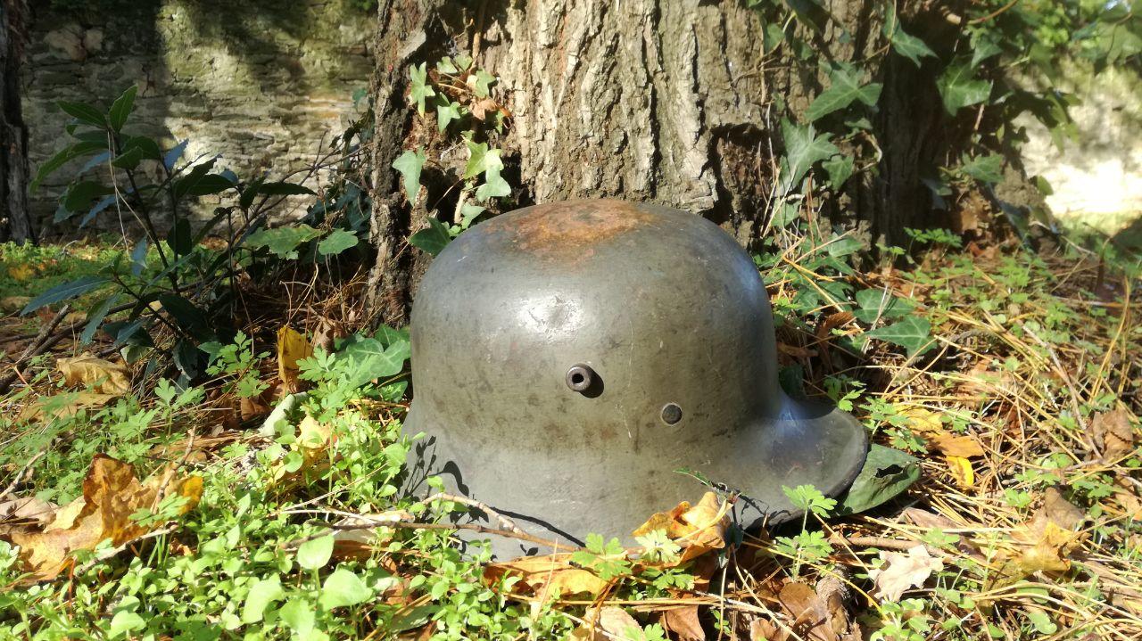 Une pomme verte au milieu de la nature ( Stahlhelm 1916 )  14c32e29-6f97-4ff6-9ea7-7283edb7a37e