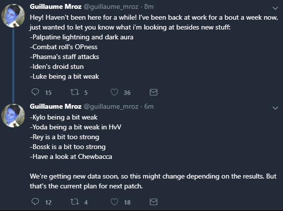 New updates regarding hero balancing.