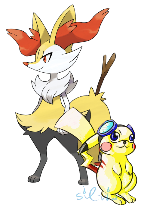 Finn the Braixen and Jack the Pikachu (Frost, Ace) Merge