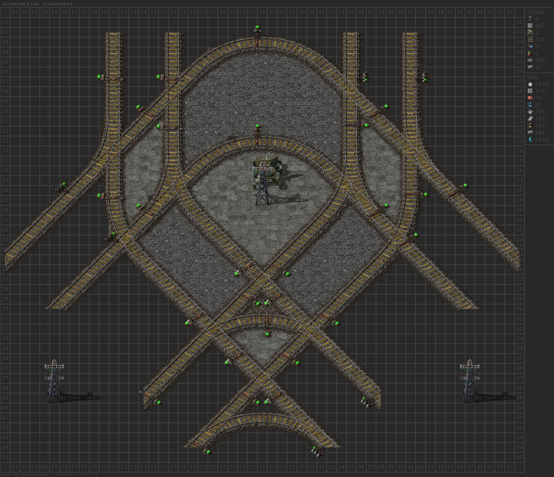 """500spm Hexagon Train """"Honeycomb"""" Base : factorio"""