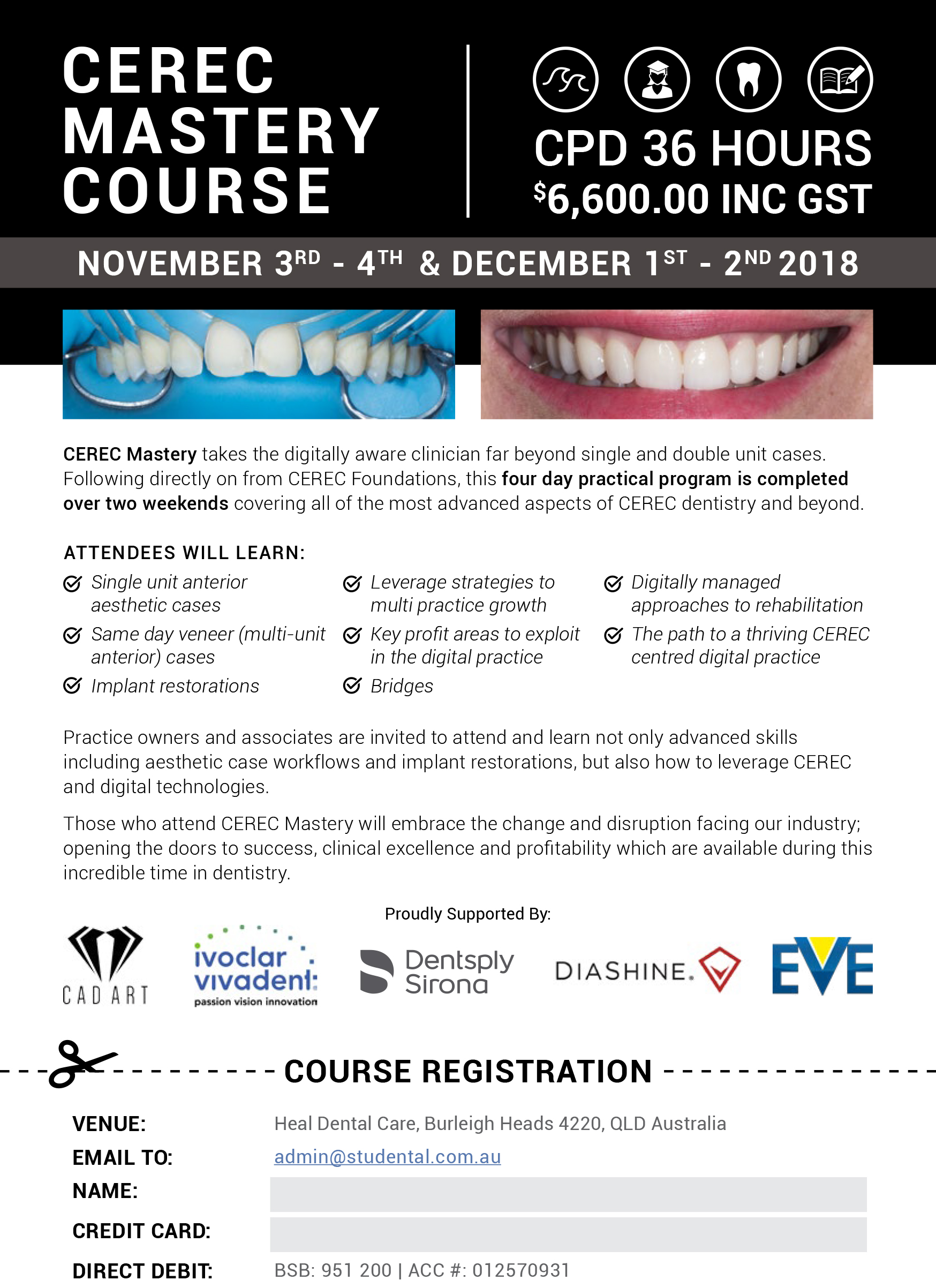 CEREC Mastery Flyer