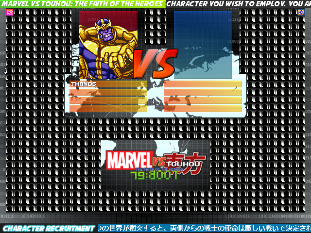 Marvel vs Touhou RE: BOOT + Lifebars [1.1 / OpenGL] Mugen075