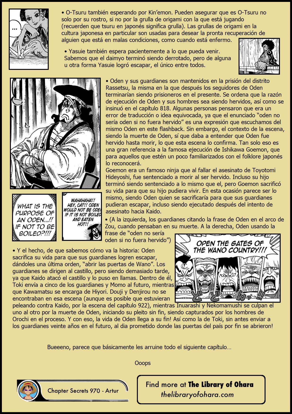 Secretos & Curiosidades - One Piece Manga 970 06