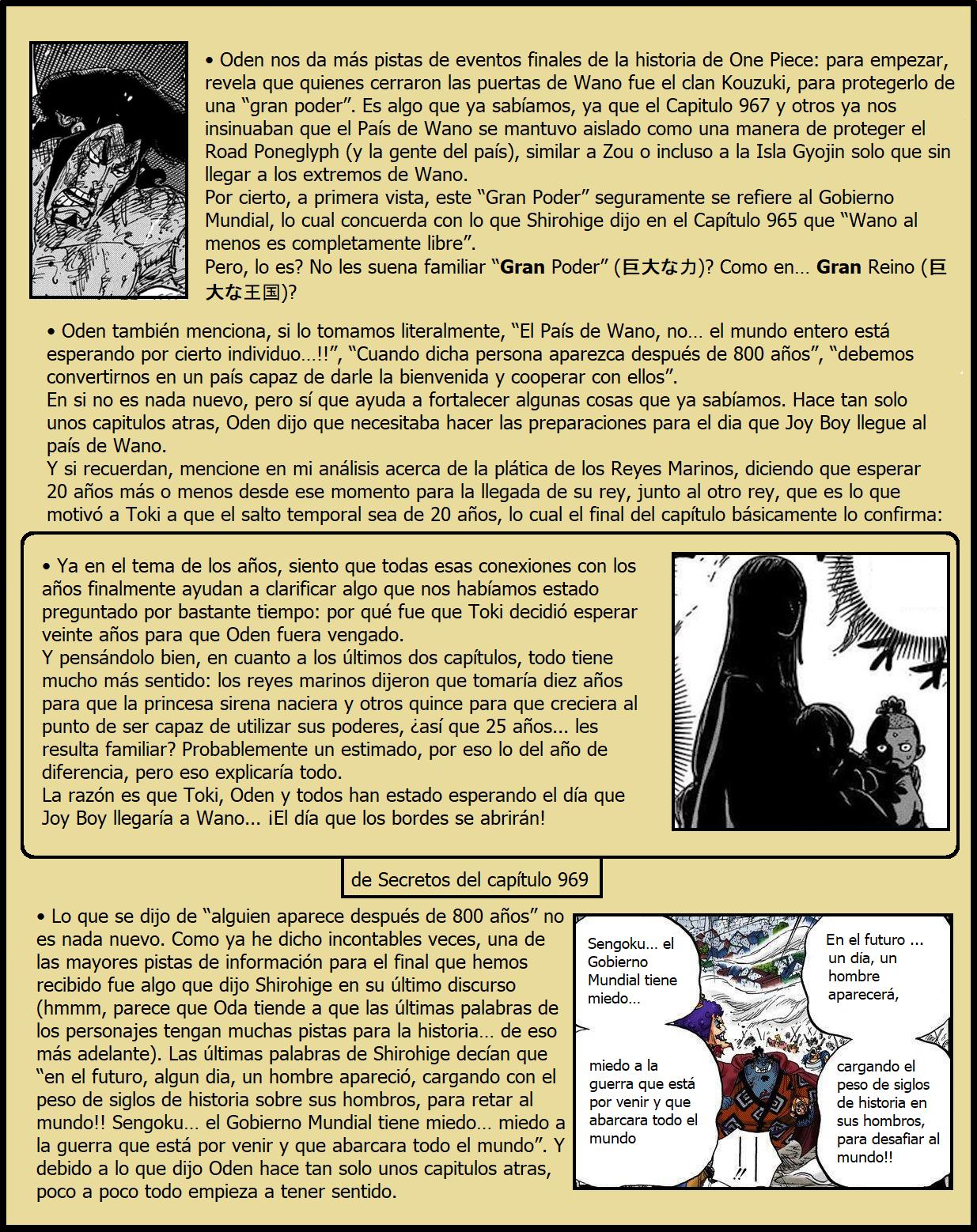 Secretos & Curiosidades - One Piece Manga 972 03