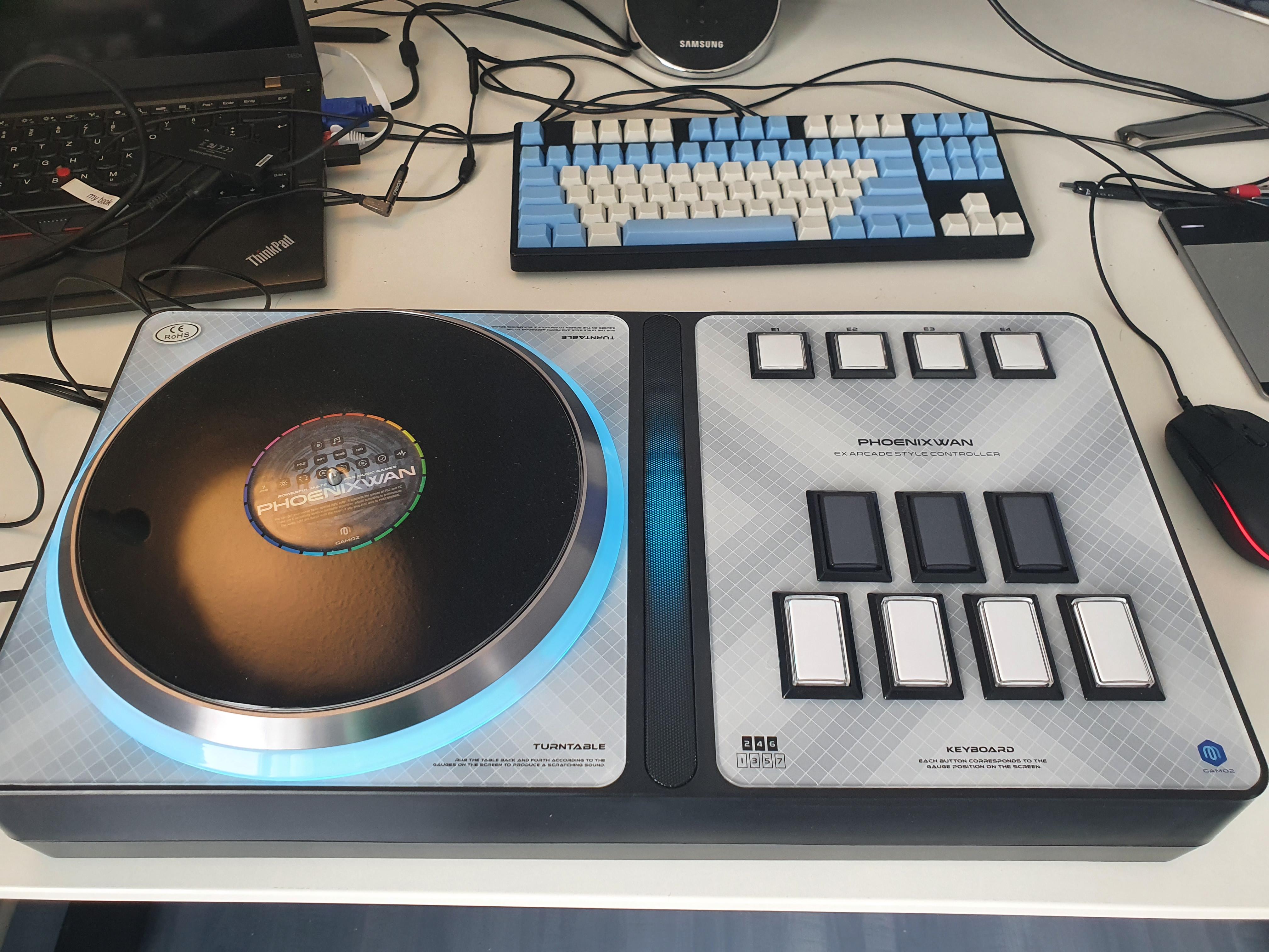 Arcade-style controller for beatmania IIDX