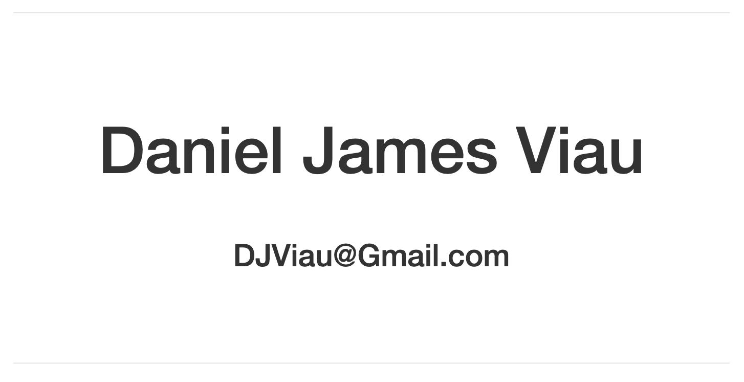 Daniel Viau Business Card