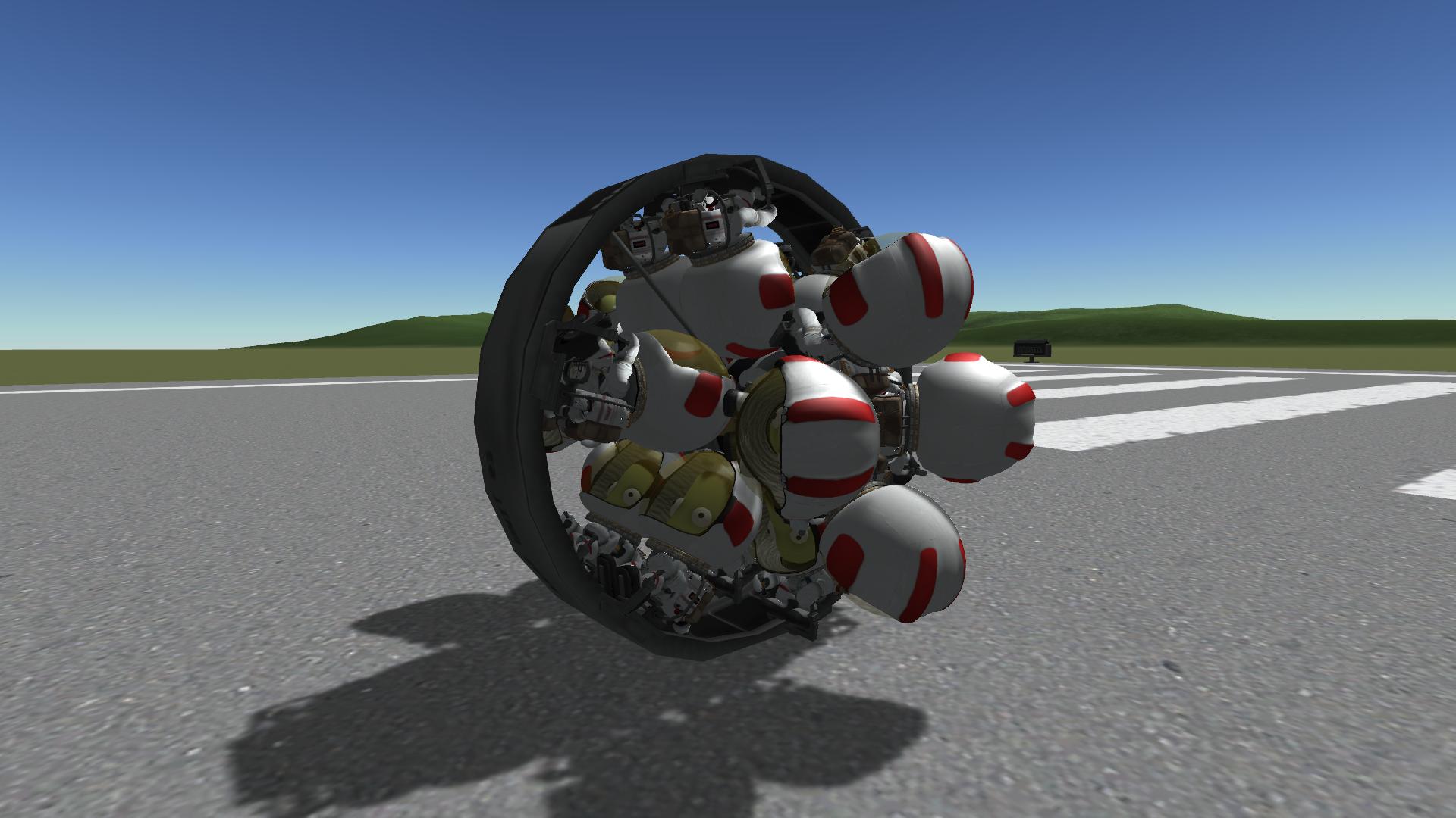 KSP monocycle pour Kerbal Space Program 20 places