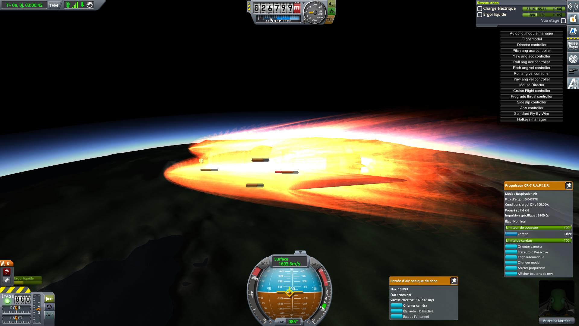 vol hypersonique de 3 heures