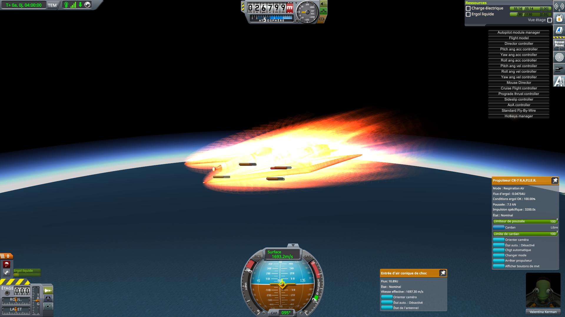 4 heures de vol hypersonique