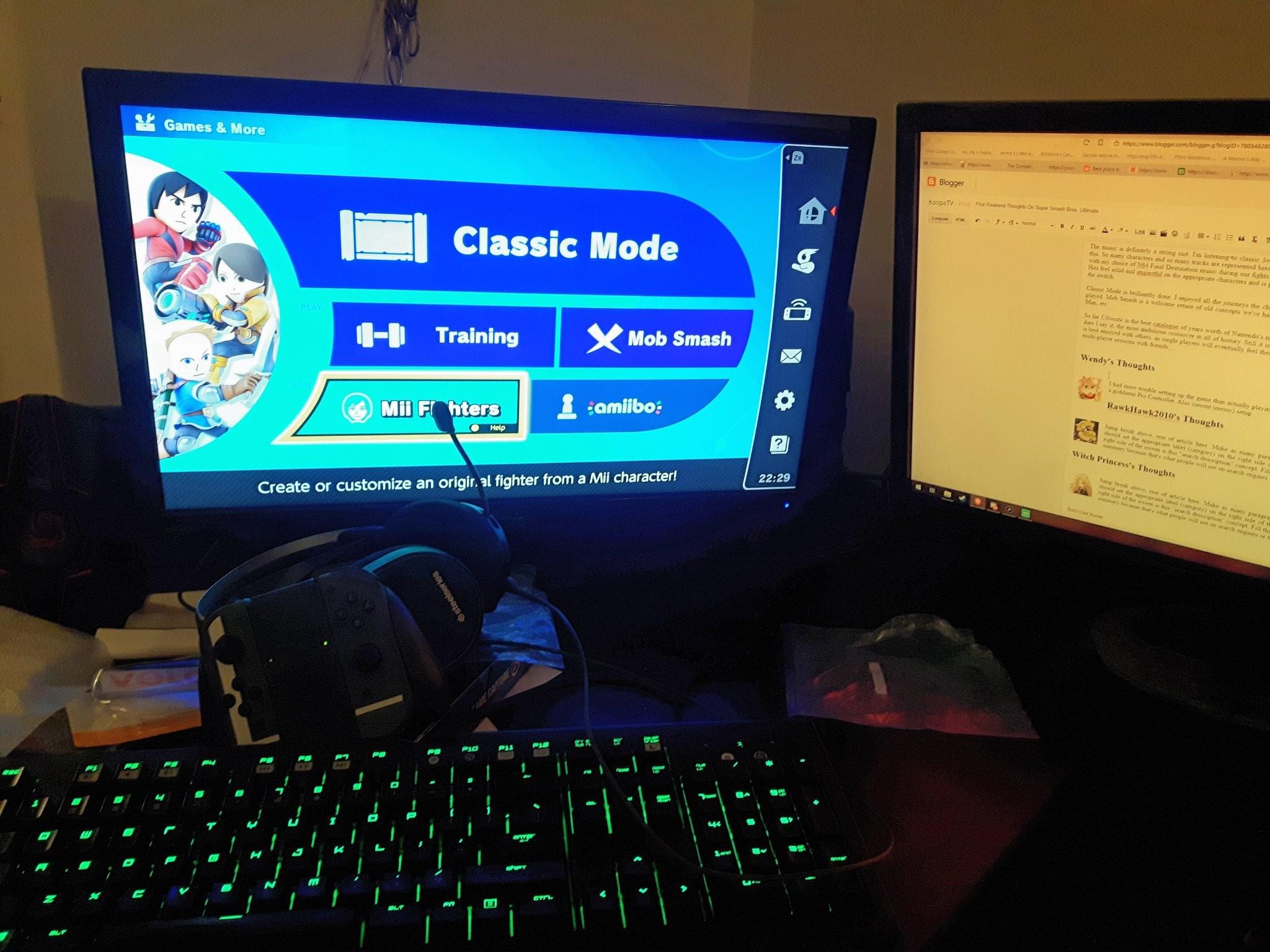Wendy O. Koopa dual monitors Super Smash Bros. Ultimate KoopaTV computer