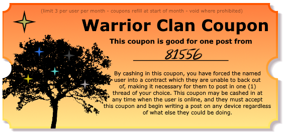 Warrior Clan Coupons - Make your friends post! Coupon