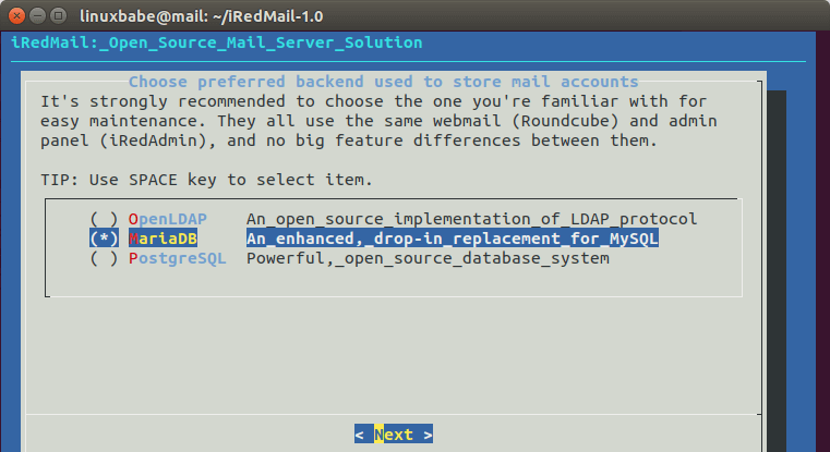 ubuntu 18 | Organización FxZ | Instalar tu propio sistema de correos - IRedMail Ubuntu 18.04