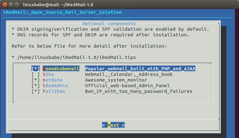 iredmail components | Organización FxZ | Instalar tu propio sistema de correos - IRedMail Ubuntu 18.04