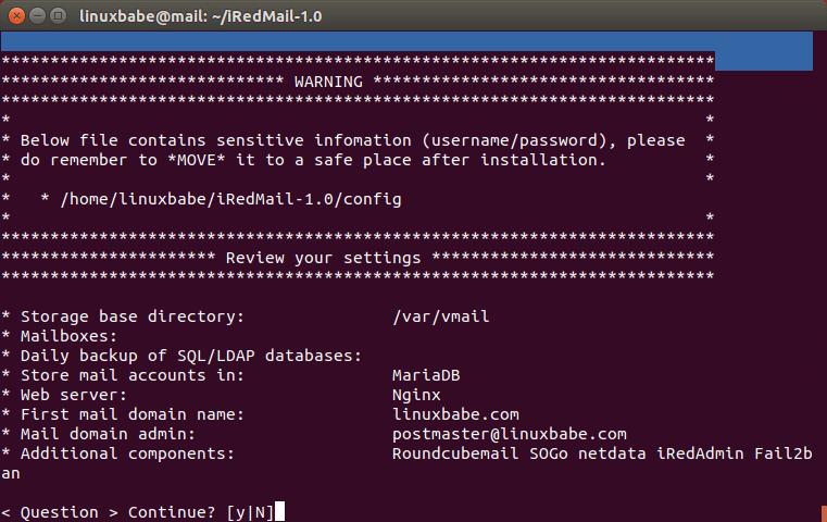 iredmail review 1 | Organización FxZ | Instalar tu propio sistema de correos - IRedMail Ubuntu 18.04