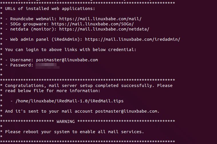 iredmail full featured mail server 1 | Organización FxZ | Instalar tu propio sistema de correos - IRedMail Ubuntu 18.04