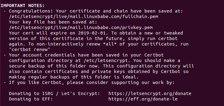 iredmail certbot | Organización FxZ | Instalar tu propio sistema de correos - IRedMail Ubuntu 18.04
