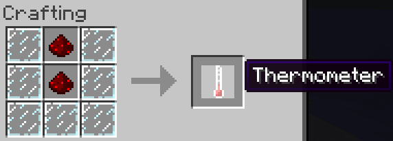 The recipe for the Thermometer.