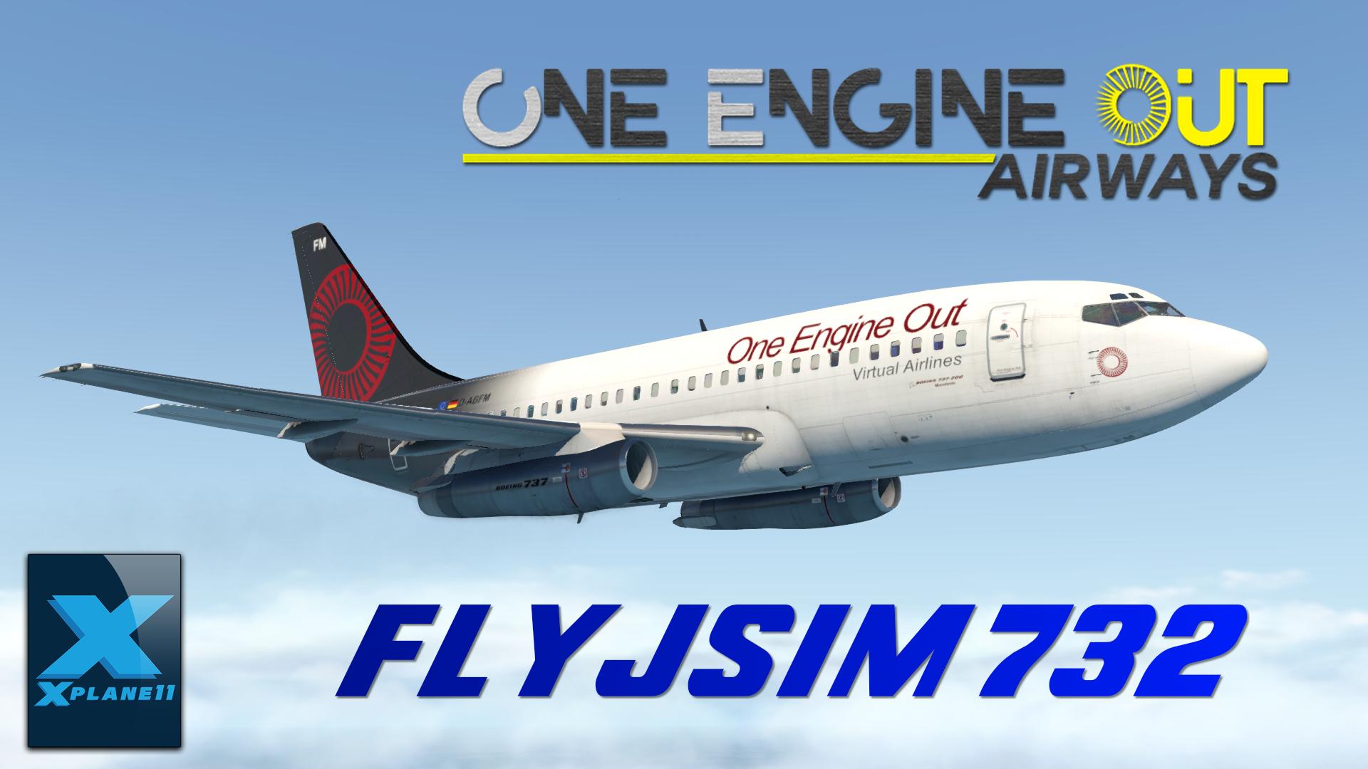 FlyJSim 732 OEO livery