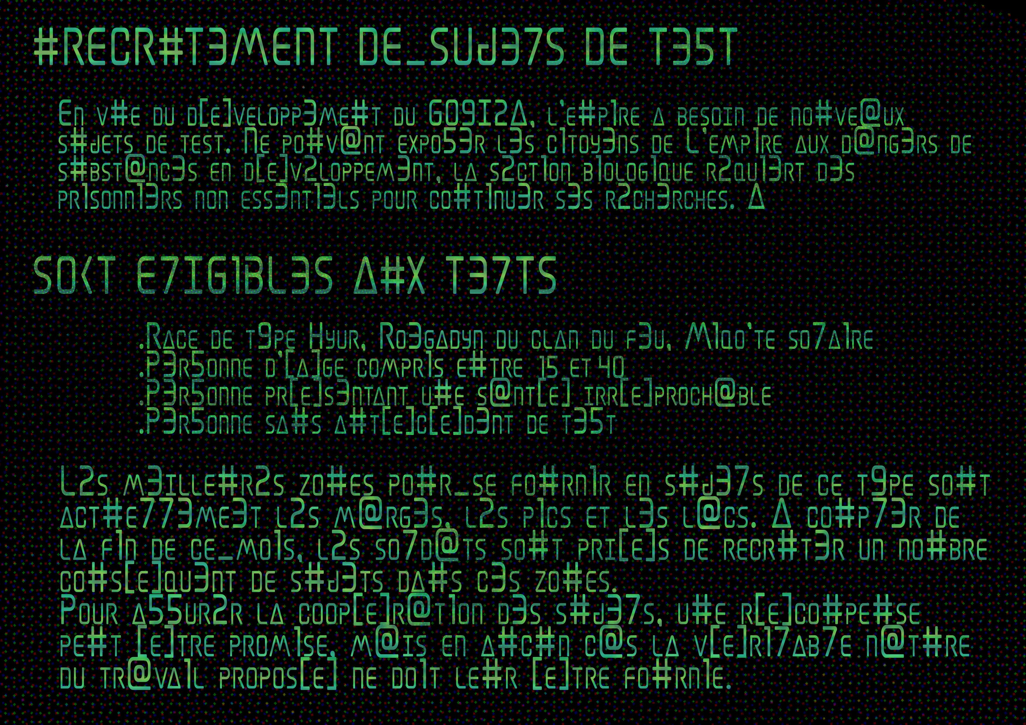 [ Récupération ] Un transporteur magitek et ses données. Clef_de_recrutement