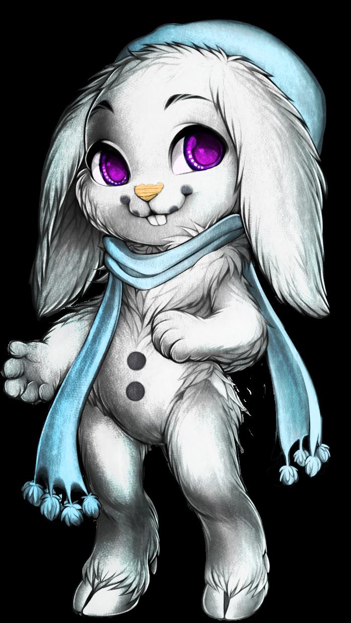 Sugarxsalt_bunny_scarf_commission_painti